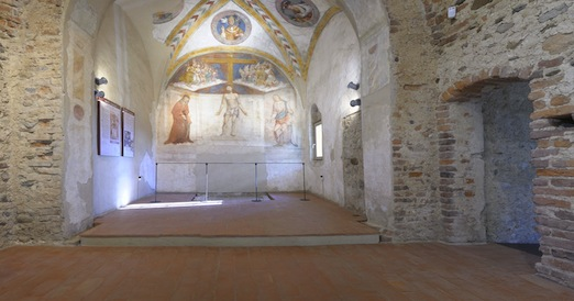 Interno Antiquarium. Affresco absidale